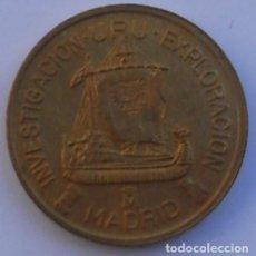 Medallas temáticas: MEDALLA - XIII FERIA NACIONAL DEL SELLO - 1991 - BRÚJULA - BARCO ROMANO - TRIRREME. Lote 70070066