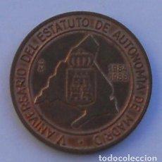 Medallas temáticas: MEDALLA - XX FERIA NACIONAL DEL SELLO - V ANIVERSARIO DEL ESTATUTO DE AUTONOMÍA DE MADRID. Lote 68612773