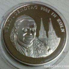 Medallas temáticas: BONITA MONEDA PLATA DEL VATICANO DEL PAPA BENEDICTO XVI EN DIA DE LA JOVENTUD 2005 COLONIA ALEMANIA. Lote 68938781