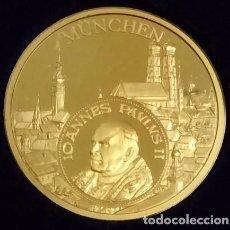 Medallas temáticas: MUY BONITA MONEDA DEL PAPA JUAN PABLO II EN SU VISITA A ALEMANIA EN MÜNCHEN AÑO 1980. Lote 68939773
