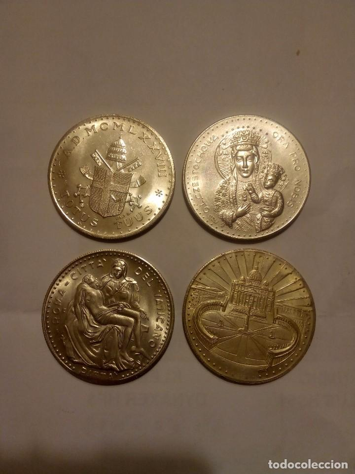 4 MEDALLAS JUAN PABLO II (Numismática - Medallería - Temática)