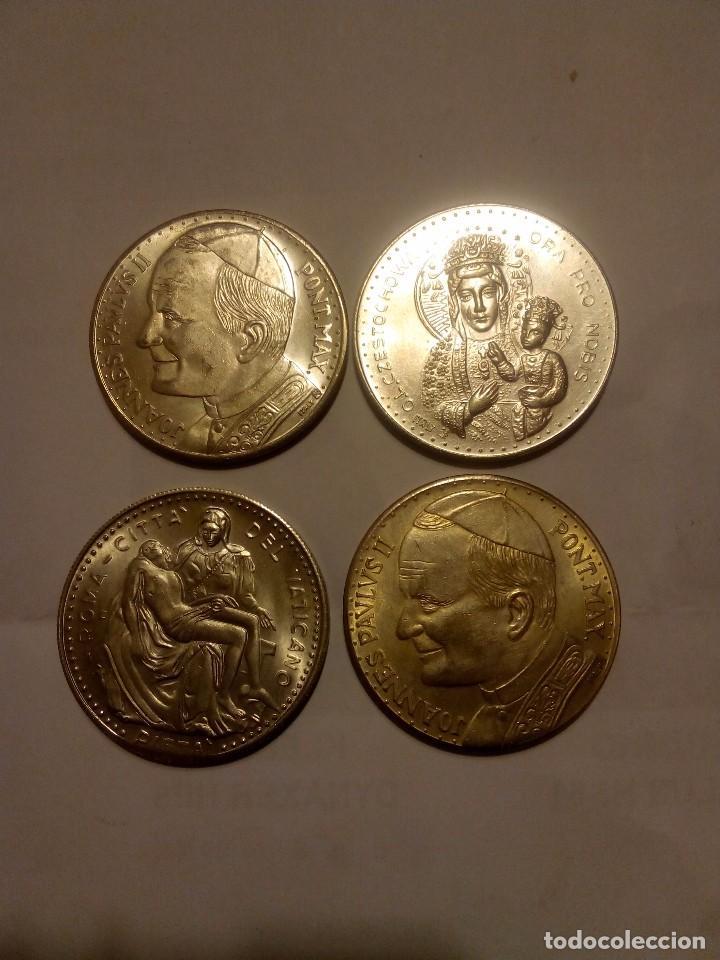 Medallas temáticas: 4 Medallas Juan Pablo II - Foto 2 - 68950929