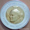 Medallas temáticas: LOTE DE 2 MONEDAS PRUEBA TRIAL AÑO 2002 CONMEMORATIVAS AL PAPA JUAN PABLO II CIUDAD DEL VATICANO. Lote 69671361