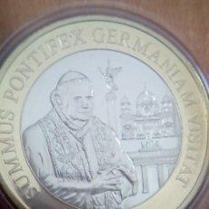 Medallas temáticas: BONITA COLECCION DE 4 MONEDAS DE LA VIDA DEL PAPA BENEDICTO XVI PONTIFEX MAXIMUS. Lote 69674857