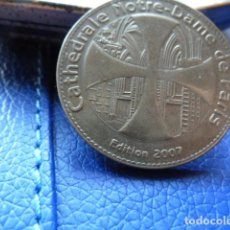 Medallas temáticas: MONEDA DE LA CATEDRAL DE NOTRE -DAME-PARIS EDICION 2007. Lote 71048961
