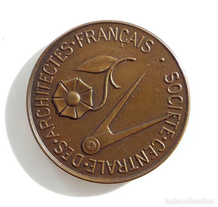 Medallas temáticas: MEDALLA - ARCHITECTES FRANCAIS - SOCIEDAD DE ARQUITECTOS FRANCESES - 3,4 CM DE DIÁMETRO - Foto 2 - 71500987