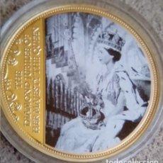 Medallas temáticas: BONITA MONEDA ORO DE LA REINA ELIZABETH II DE INGLATERRA CONMEMORANDO LOS 60 AÑOS DE SU REINADO. Lote 71597475