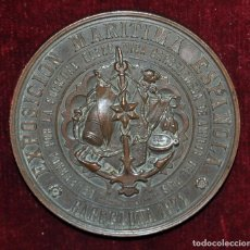 Medallas temáticas: MEDALLA EXPOSICION MARITIMA NACIONAL DE BARCELONA 1872. PREMIO AL MERITO. ESCULTOR MASRIERA Y ESCRIU. Lote 71637563