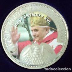 Medallas temáticas: CURIOSA MONEDA DEL PAPA BENEDICTO XVI POR LA UNIFICACION DE LAS ALEMANIAS. Lote 71708023
