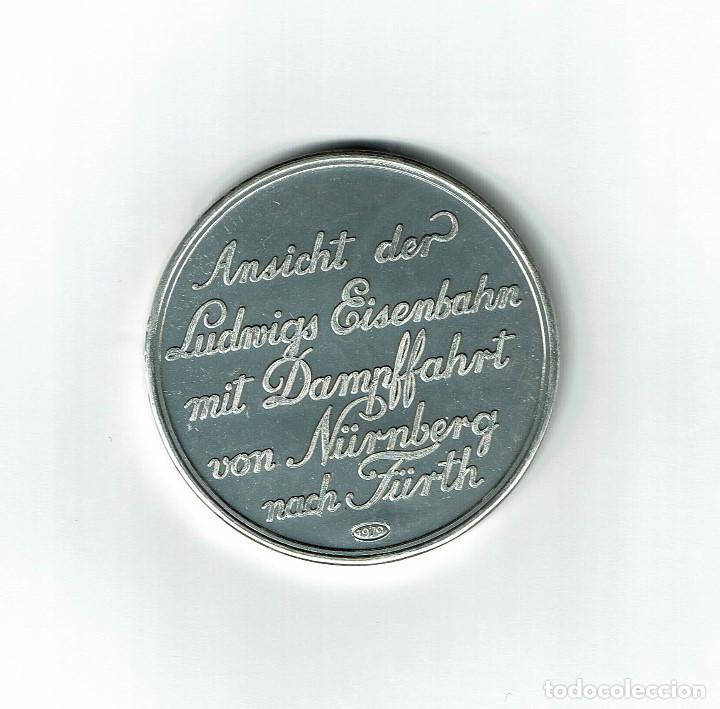 Medallas temáticas: MEDALLA CONMEMORATIVA 1979 1º TREN ALEMANIA DICIEMBRE 1835 NURENBERG A FURTH FERROCARRIL - Foto 2 - 72276279