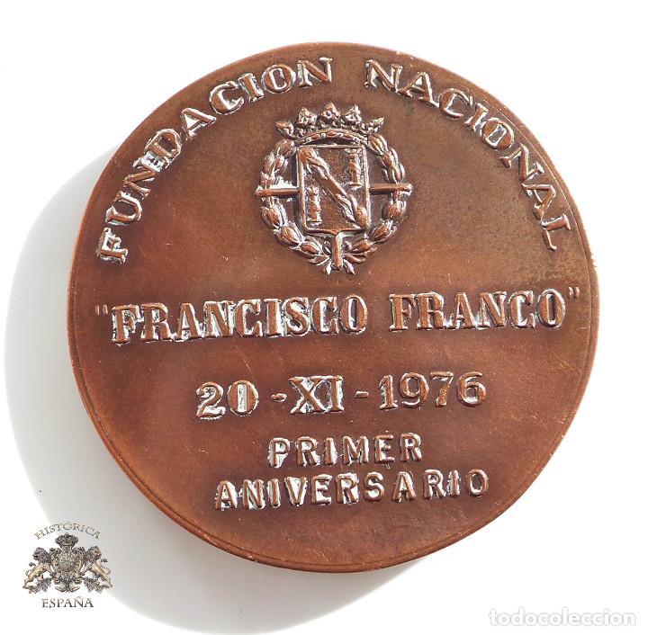 MEDALLA FUNDACIÓN NACIONAL FRANCISCO FRANCO 1976 (Numismática - Medallería - Temática)