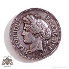 Medallas temáticas: MEDALLA EN PLATA REPUBLICA FRANCESA COMITE AGRICOLA DE MOUTIERS 1896 - 3,5 CM DE DIÁMETRO. Lote 72976459