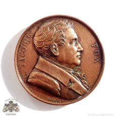 Medallas temáticas: MEDALLA CONMEMORATIVA DEL RETRATO DEL CAPITÁN COOK. SERIE UNIVERSAL DE DURAND, 1823- 4,2 CM DIÁMETRO. Lote 72986959