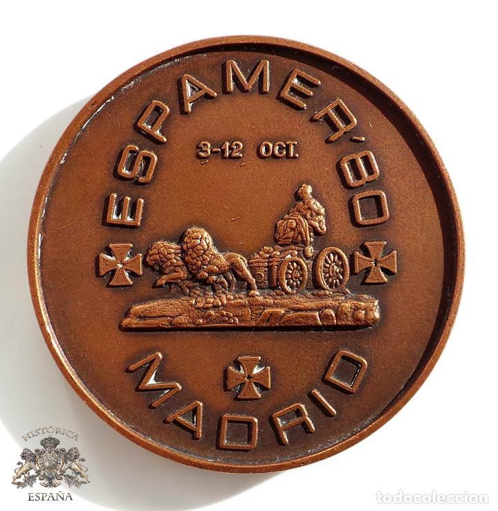 MEDALLA ESPAMER´80 - 3-12 OCT- MADRID - 5 CM DIÁMETRO (Numismática - Medallería - Temática)