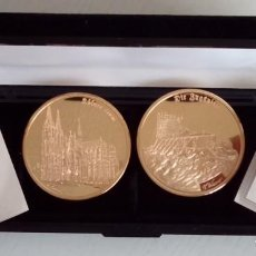 Medallas temáticas: BONITO LOTE DE 2 MONEDAS DE MONUMENTOS DE ALEMANIA COMO EL KÖLNER DOM Y ZUGSPITZE EDICION LIMITADA. Lote 73568267