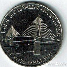 Medallas temáticas: MUY RARA.1970 .HAMBURGO ALEMANIA KÖHLBRAND PUENTE KÖHLBRANDBRÜCKE MEDALLA COLECCIONABLE. Lote 74304351