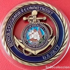 Medallas temáticas: CURIOSA MONEDA CONMEMORATIVAAL COMPROMISO HONOR Y VALOR DE LOS U.S NAVY DE ESTADOS UNIDOS DE AMERICA. Lote 74677703