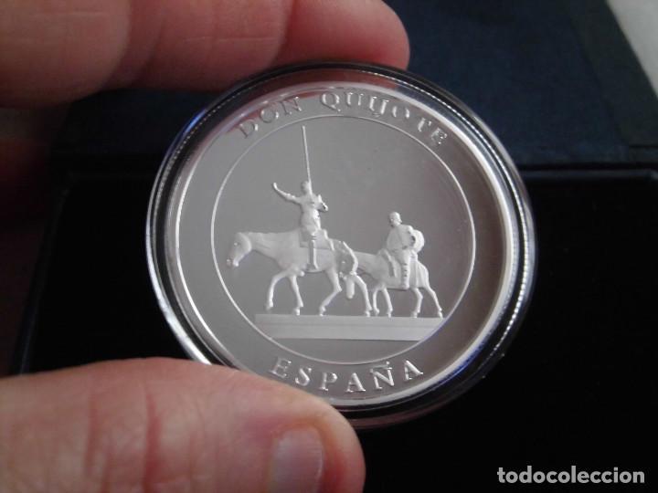 MEDALLA DON QUIJOTE DE PLATA (Numismática - Medallería - Temática)