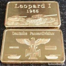Medallas temáticas: LINGOTE ORO 1 OZ DEUTCHE GERMAN TANK PANZER DIVISION LEOPARD 1 1965 CONMEMORATIVE. Lote 75199499