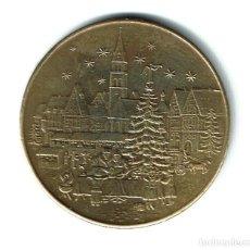 Medallas temáticas: ALEMANIA MEDALLA FELICITACION NAVIDAD 1979 LATÓN COLOR, 26 MM DIÁMETRO, 1 MM ESPESOR - WEIHNACHTEN. Lote 75956319