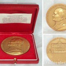 Medallas temáticas: MEDALLA MEDALLON 1987 PAPA JUAN PABLO II NUMERADA 1221 DE 1500 EN CAJA Y PAPELES LORIOLI 7 CM. Lote 76375691