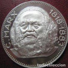 Medallas temáticas: BONITA MONEDA DE PLATA DEL LIDER COMUNISTA C MARX ALEMANIA 1818 - 1883 EN MUY BUEN ESTADO. Lote 76762759