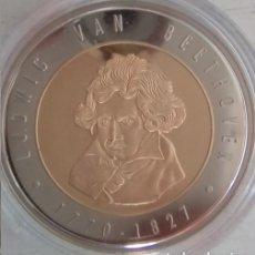 Medallas temáticas: BONITA MONEDA CONMEMORATIVA A LUDWIG VAN BEETHOVEN 1770 - 1827. Lote 76766471