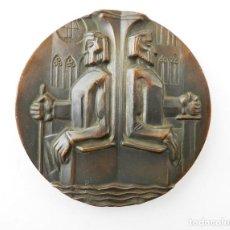 Medallas temáticas: GRAN MEDALLA EN COBRE RÍO ARLANZÓN. Lote 79185241