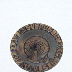 Medallas temáticas: MEDALLA 1ER SYMPOSIUM LUZ Y VISION - CRUZADA DE PROTECCION OCULAR OCT-1974. Lote 79651657