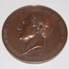 Medallas temáticas: MEDALLA LEOPOLD I. FERIA DE COMERCIO DE AMBERES. BRONCE. L. WIENER. BÉLGICA. 1863. Lote 79884345