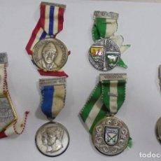 Medallas temáticas: LOTE DE 6 MEDALLAS EXTRANJERAS A EXPERTIZAR. VER FOTO. DEPORTIVA? MILITAR?. Lote 80454993
