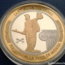 Medallas temáticas: BONITA MONEDA PLATA Y ORO PERSEO Y MEDUSA ARTE VATICANO EDICION LIMITADA CON CERTIFICADO. Lote 107559004