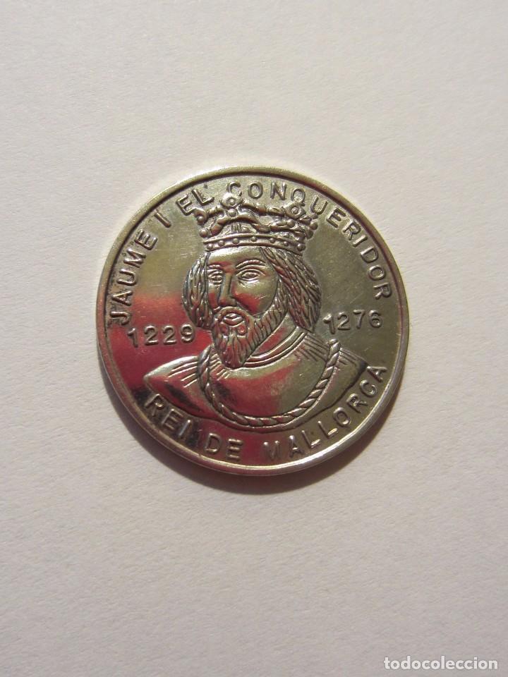JAIME I . MEDALLA DE PLATA. MALLORCA. (Numismática - Medallería - Temática)