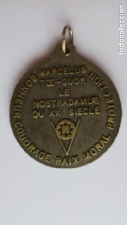 Medallas temáticas: Medalla de marcelus toe guor el nostradamus del siglo XX de 3,2 cms de diametro - Foto 2 - 81828260