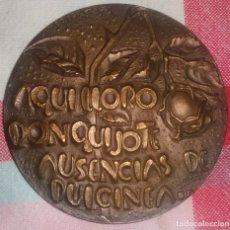 Medallas temáticas: MEDALLA DON QUIJOTE, FNMT 1968, ENVÍO GRATIS. Lote 83518772