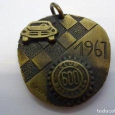 Medalhas temáticas: MEDALLA DEL CLUB 600 DE BARCELONA. TROFEO SEIS HORAS DE BARCELONA. AÑO 1967. Lote 83886764