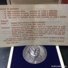 Medallas temáticas: MEDALLA DE PLATA DEL VATICANO 40GR 44MM EDICIÓN LIMITADA 2172/8000 PAPA JUAN PABLO II. Lote 83939900