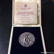 Medallas temáticas: MEDALLA DE PLATA DEL VATICANO 40GR 44MM EDICIÓN LIMITADA DEL AÑO 1983 PAPA JUAN PABLO II. Lote 83940256