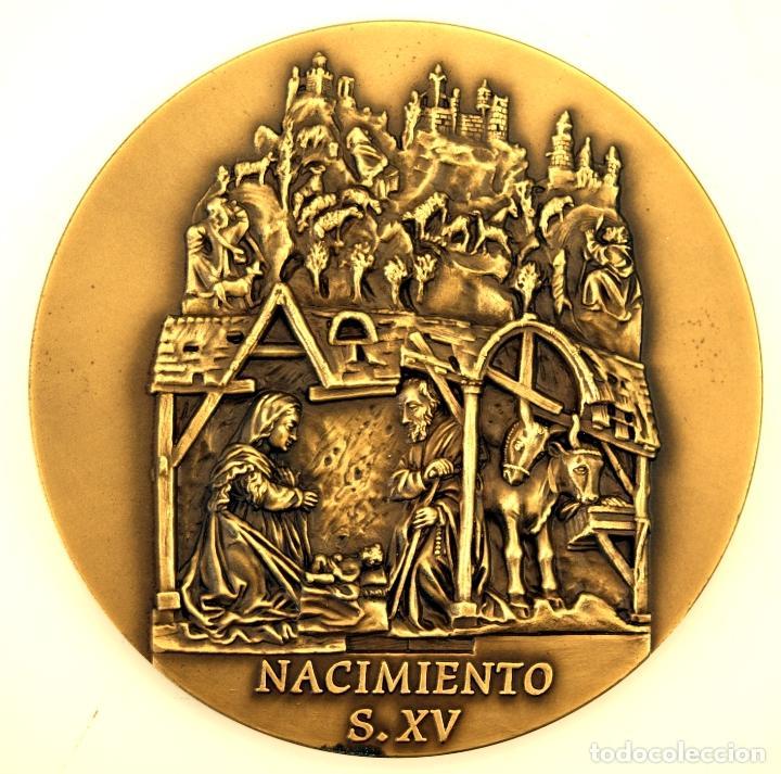Medallas temáticas: MEDALLÓN CATEDRAL DE LEÓN - BRONCE - ESCULTOR ALVES ANDRÉ - S. XX - Foto 3 - 84617272