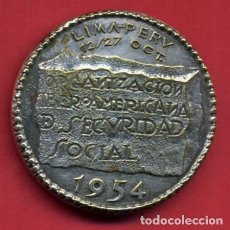 Medallas temáticas: MEDALLA, CONGRESO IBEROAMERICANO DE SEGURIDAD SOCIAL , 1954 , ORIGINAL , A10. Lote 85060216