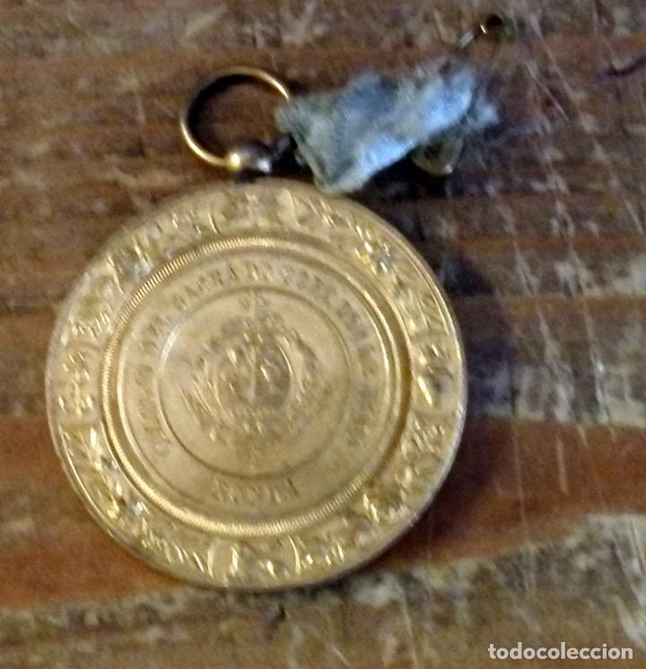 ANTIGUA MEDALLA DEL COLEGIO DEL SAGRADO CORAZON DE JESUS DE RONDA, MALAGA (Numismática - Medallería - Temática)