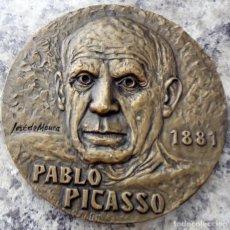 Medallas temáticas: GRAN MEDALLA MEDALLON EN BRONCE MACIZO PICASSO 1881 GUERNICA EDICION LIMITADA Y NUMERADA. Lote 86102763
