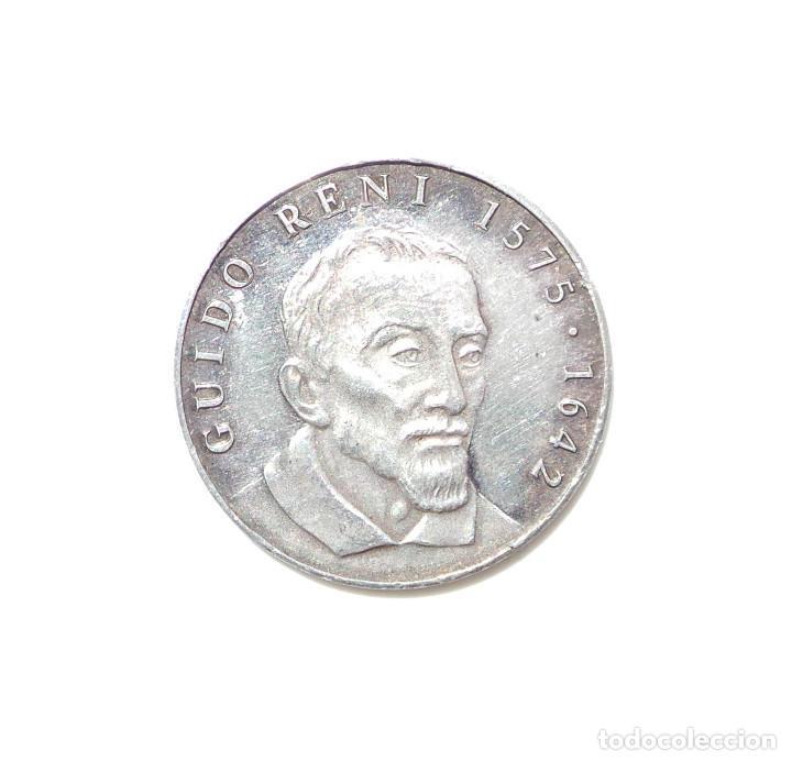 Medallas temáticas: MEDALLA DE PLATA GUIDO RENI 1575 - 1642 -ATALANTA HIPOMENES - Foto 2 - 87153472