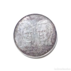 Medallas temáticas: MEDALLA PLATA 19 -JUNI-1976-KONUNG CARL XVI GUSTAF-BODA DEL REY CARLOS XVI GUSTAVO Y LA REINA SILVIA. Lote 87154388