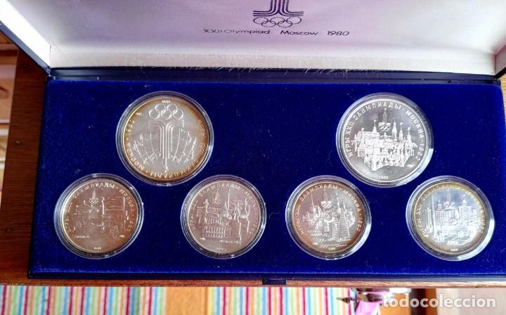 Medallas temáticas: Estuche 6 Monedas Conmemorativas Juegos Olímpicos Moscu 1980 Plata - Foto 2 - 88351396