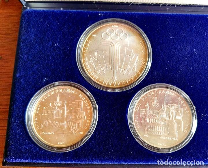 Medallas temáticas: Estuche 6 Monedas Conmemorativas Juegos Olímpicos Moscu 1980 Plata - Foto 3 - 88351396
