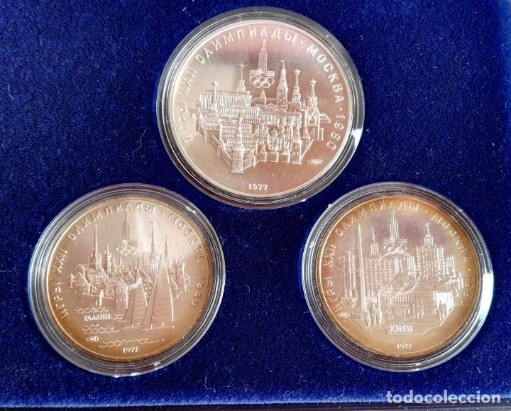 Medallas temáticas: Estuche 6 Monedas Conmemorativas Juegos Olímpicos Moscu 1980 Plata - Foto 4 - 88351396