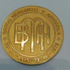 Medallas temáticas: MEDALLA DEL BANCO MERCANTIL Y AGRÍCOLA DE VENEZUELA 1925-1975. Lote 88884040