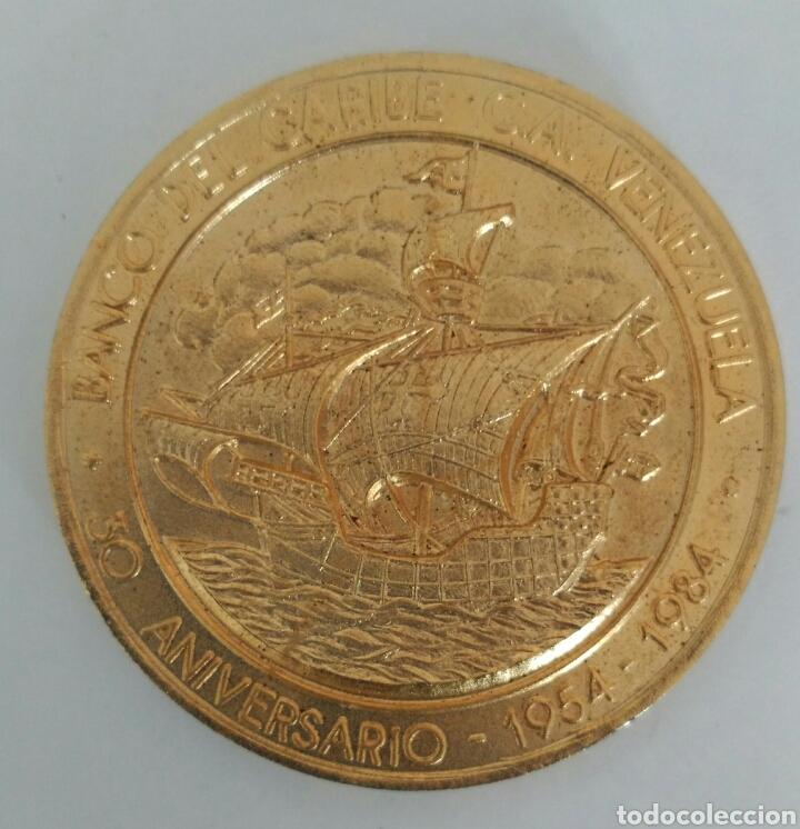 Medallas temáticas: MEDALLA DEL ANTIGUO BANCO DEL CARIBE DE VENEZUELA. 30 ANIVERSARIO 1984 - Foto 2 - 88891770