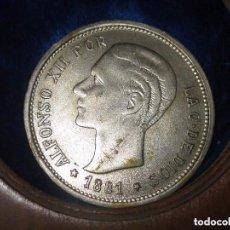 Medallas temáticas: MEDALLA ANTIGUA MONEDA BANCO SABADELL FUNDADA EN 1881 REY ALFONSO XII DIAMETRO .4. CMS. Lote 69732773